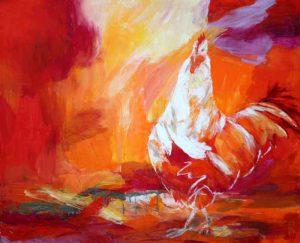 Eitempera auf Leinwand, 110 x 90 cm