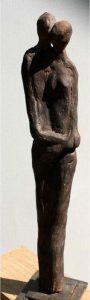 Paar aus Terrakotta, 19cm