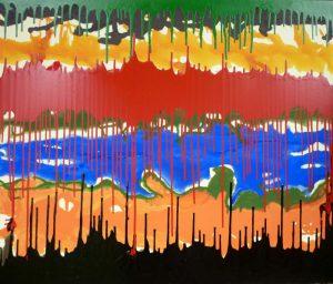 Acrylfarbe auf Leinwand; 130 x 110 cm