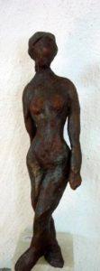 kleine Figur,14cm, aus Terrakotta auf Speckstein