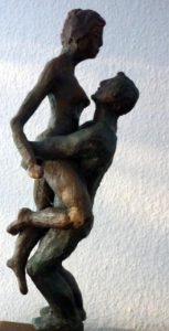 Paar aus Terrakotta, 30cm