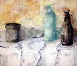 Eitempera auf Leinwand, 80 x 80 cm