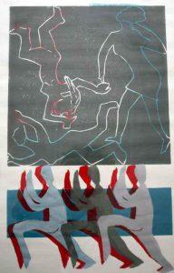 Linoldruck, Handabzug, 50 x 70 cm ,Unikat