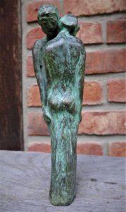 Paar in Bronze, 21cm, Unikat