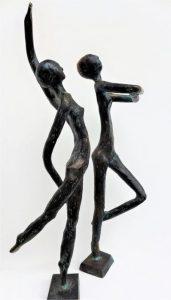 """""""Zoe und Claire"""", Bronze, 20cm"""