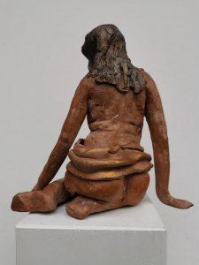 kleine Sitzende, 13cm, Terrakotta