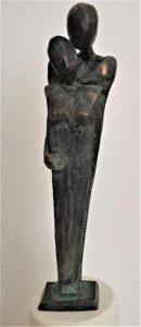 Paar in Bronze, 19cm, Unikat